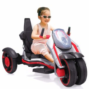 JAXPETY Battery Powered Electric 3 Wheel Kids Motorcycle